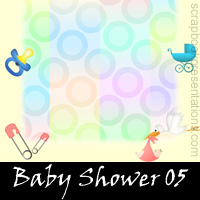 Free Baby Shower Scrapbook Backdrops, Paper, Book Downloads