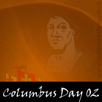 Free Columbus Day Scrapbook Backdrop, Paper, Book Downloads