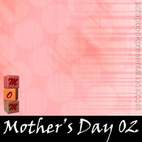 Mother's Day Scrapbook Backdrops