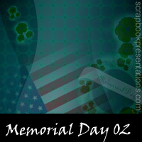 Memorial Day Scrapbook Backdrops