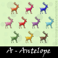 Free Antelope Embellishments, Scrapbook Downloads, Printables, Kit