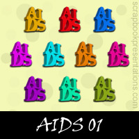 AIDS Scrapbook Embellishments