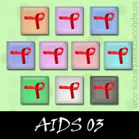Free AIDS Embellishments, Scrapbook Downloads, Printables, Kit