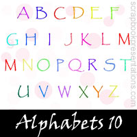 Free Alphabets Embellishments, Scrapbook Downloads, Printables, Kit