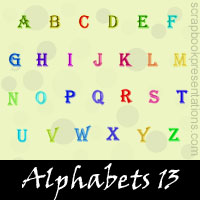 Free Alphabets SnagIt Stamps, Scrapbooking Printables Download