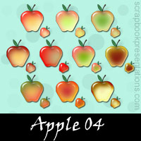 Free Apple Embellishments, Scrapbook Downloads, Printables, Kit