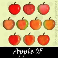 Free Apple Scrapbook Embellishments
