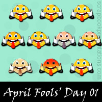 Free April Fools' Day Embellishments, Scrapbook Downloads, Printables, Kit