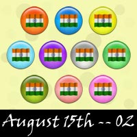 Free August 15th, Independence Day Embellishments, Scrapbook Downloads, Printables, Kit