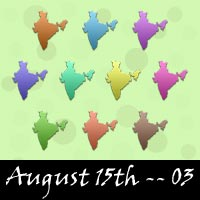 August 15 Independence Day Scrapbook Embellishments