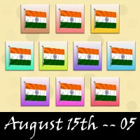 August 15 Independence Day Snagit Stamps