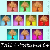 Free Fall / Autumn Embellishments, Scrapbook Downloads, Printables, Kit
