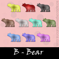 Free Bear Scrapbook Downloads, Kit, Printables, Embellishments