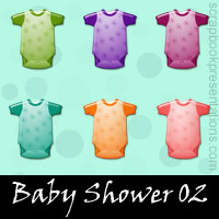 Free Baby Shower SnagIt Stamps, Scrapbooking Printables Download