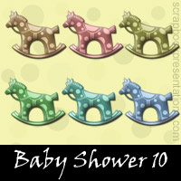 Free Baby Shower Embellishments, Scrapbook Downloads, Printables, Kit