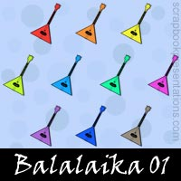 Free Balalaika Embellishments, Scrapbook Downloads, Printables, Kit