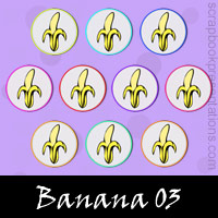 Free Banana Embellishments, Scrapbook Downloads, Printables, Kit