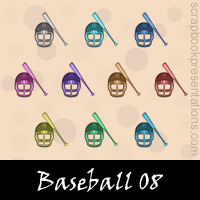 Free Baseball SnagIt Stamps, Scrapbooking Printables Download