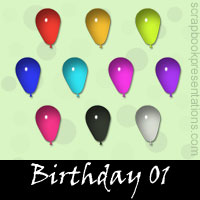 Free Birthday Embellishments, Scrapbook Downloads, Printables, Kit