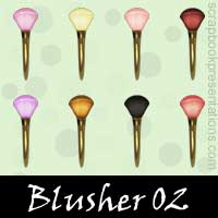 Free Blusher Embellishments, Scrapbook Downloads, Printables, Kit