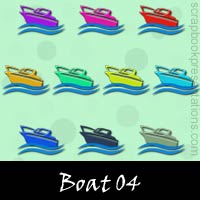 Free Boat SnagIt Stamps, Scrapbooking Printables Download