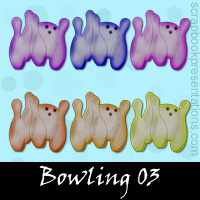 Free Bowling SnagIt Stamps, Scrapbooking Printables Download