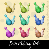 Free Bowling Embellishments, Scrapbook Downloads, Printables, Kit