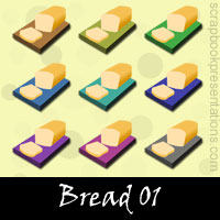 Free Bread SnagIt Stamps, Scrapbooking Printables Download