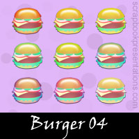Free Burger Embellishments, Scrapbook Downloads, Printables, Kit