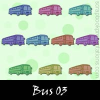 Free Bus Embellishments, Scrapbook Downloads, Printables, Kit