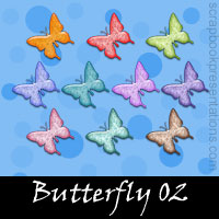 Free Butterfly Embellishments, Scrapbooking Printables Download
