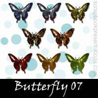 Free Butterfly Scrapbook Embellishments