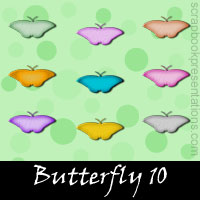 Free Butterfly SnagIt Stamps, Scrapbooking Printables Download