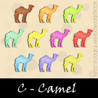 Free Camel Embellishments, Scrapbook Downloads, Printables, Kit
