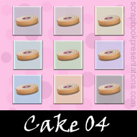 Free Cake SnagIt Stamps, Scrapbooking Printables Download