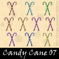 Free Candy Cane Embellishments, Scrapbook Downloads, Printables, Kit