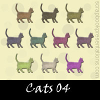 Free Cats Embellishments, Scrapbook Downloads, Printables, Kit