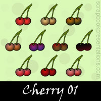Free Cherry Embellishments, Scrapbook Downloads, Printables, Kit