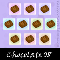 Free Chocolate Embellishments, Scrapbooking Printables Download, Printables, Kit