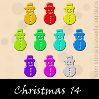 Free Christmas Embellishments, Scrapbook Downloads, Printables, Kit