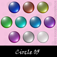 Free Circle SnagIt Stamps, Scrapbooking Printables Download