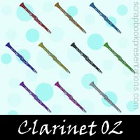 Free Clarinet SnagIt Stamps, Scrapbooking Printables Download