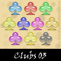 Free Playing Cards: Clubs SnagIt Stamps Download