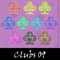 Free Playing Cards: Clubs Embellishments, Scrapbook Downloads, Printables, Kit