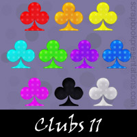 Free Playing Cards: Clubs SnagIt Stamps, Scrapbooking Printables Download
