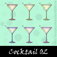 Free Cocktail SnagIt Stamps, Scrapbooking Printables Download