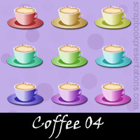 Free Coffee Embellishments, Scrapbook Downloads, Printables, Kit