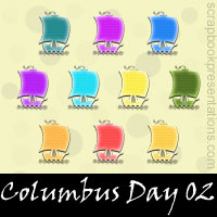 Free Columbus Day Embellishments, Scrapbook Downloads, Printables, Kit