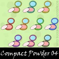 Free Compact Powder Embellishments, Scrapbook Downloads, Printables, Kit