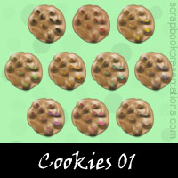 Free Cookies Embellishments, Scrapbook Downloads, Printables, Kit
